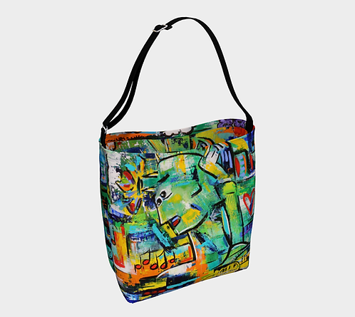 New York CityVibe Day Tote, Adjustable Belt Strap