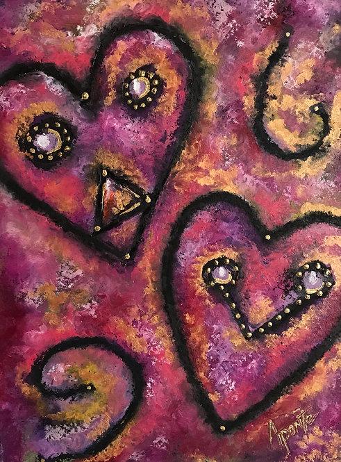 Taino Cranberry Hearts