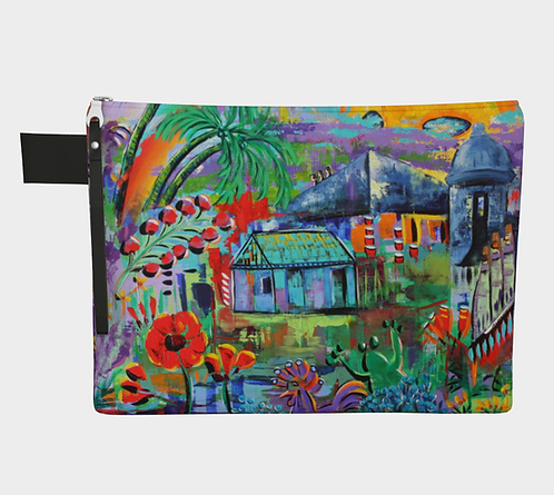 Tropical Vibes Canvas Clutch