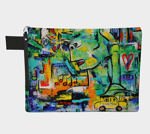 NYC Vibes canvas clutch