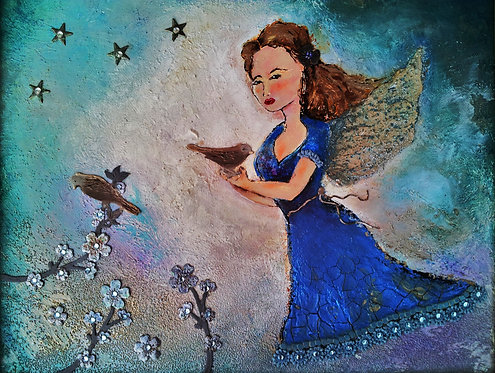 Angel with Dove - sold