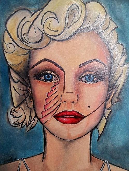 Marilyn Original Watercolor SOLD