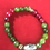 Thumbnail: Green agate glass accent floral bead #9