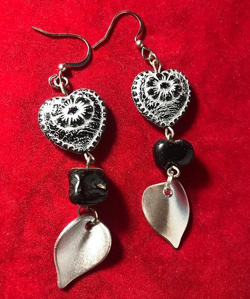 Stone black heart