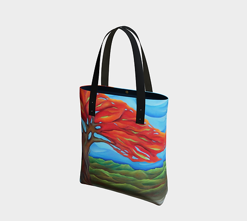 Flamboyan Tote, Vegan Leather Strap