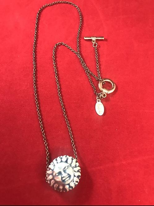 Moon ceramic necklace