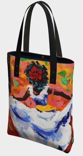 Bomba Dancer Tote, Vegan Leather Strap