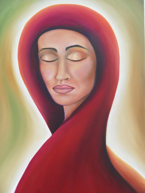 Woman in Red Cloak SOLD