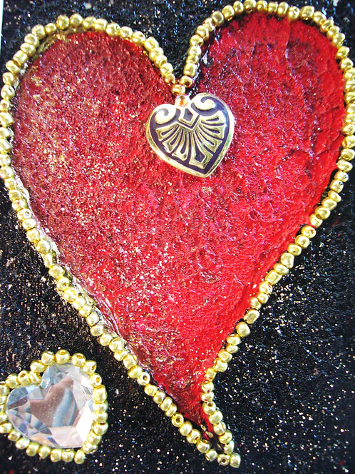 Fire Red Heart - Sold