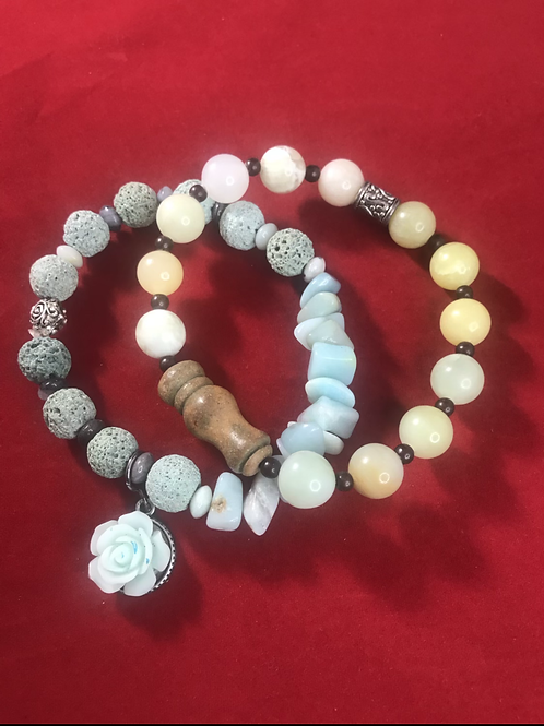Lava Coral bracelet #3