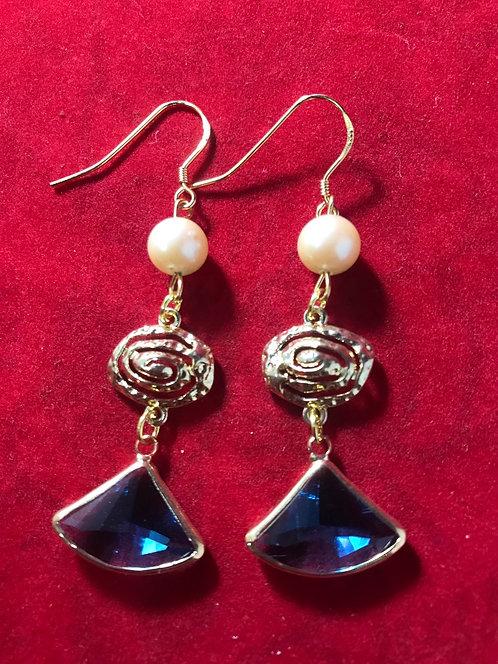 Blue pearl chandelier