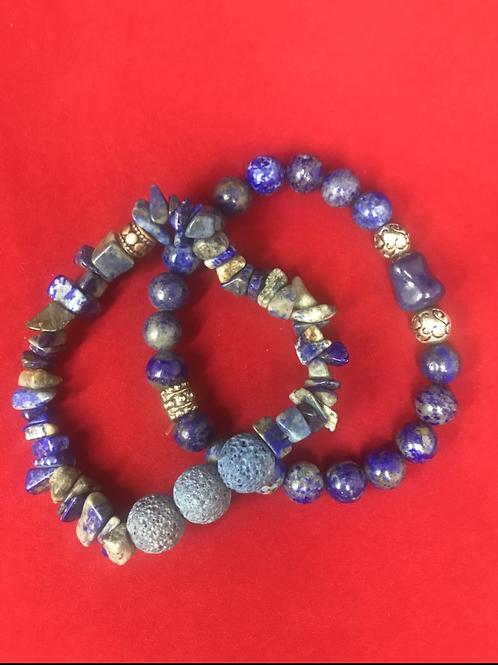 Blue Lava stone bracelet #4