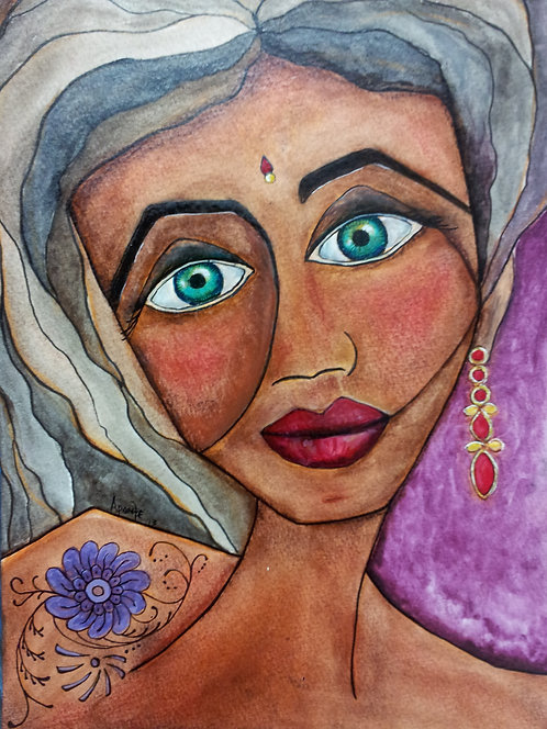 The Bali Dancer Original Watercolor SOLD