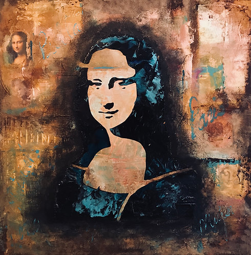 Mona Lisa Mixed Media