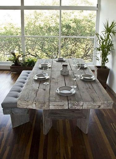 durango mesa comedor tablones blanceada.