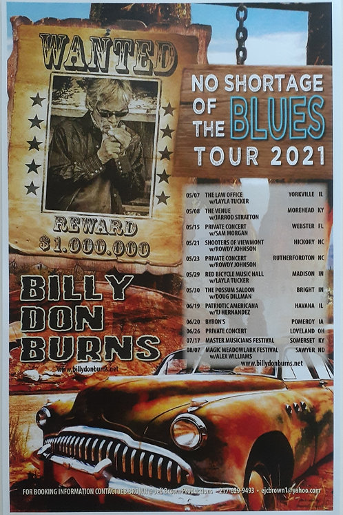 NO SHORTAGE OF THE BLUES TOUR POSTER