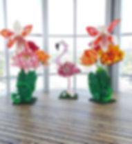 tropical flower setup baby shower.JPG