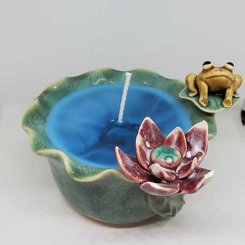 Frog and Lilypad candle