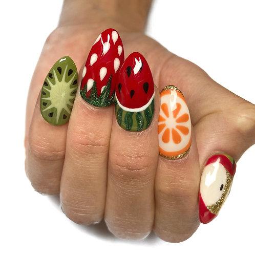 Press on nails - Set Design (Summer fruits)