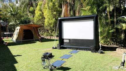 Movie camp out