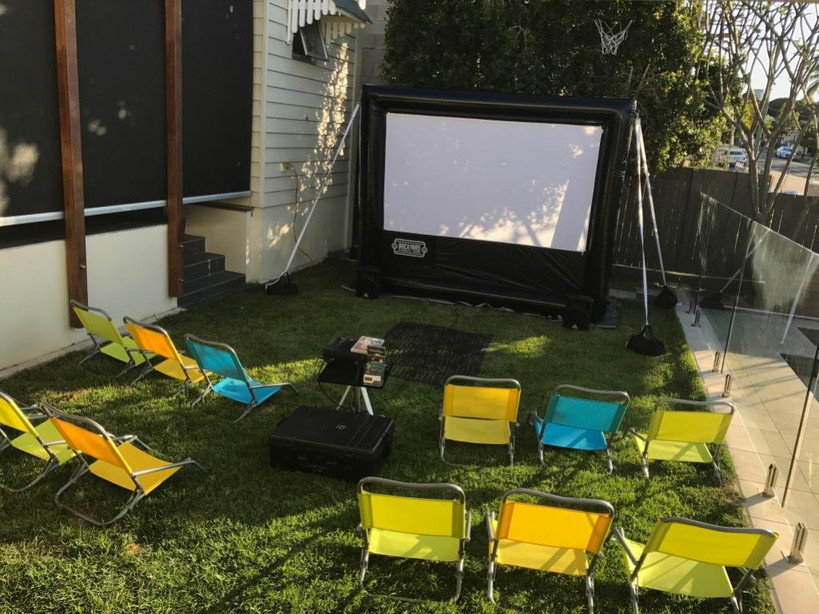 Cinema with kids chairs