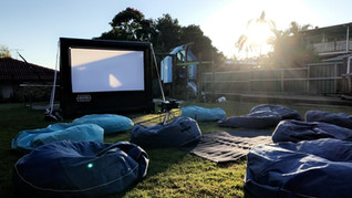 Movie System with bean bags