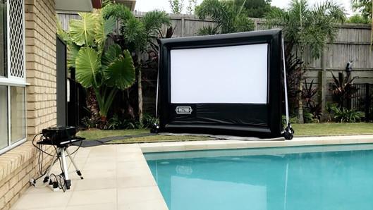 Poolside cinema