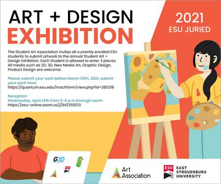 Art + Design Exhibition Flyer