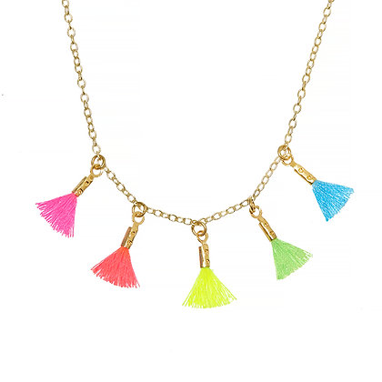 Rainbow Tassel Necklace