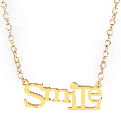 Girl Power Smile Necklace