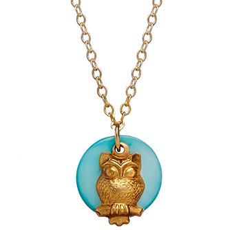 Blue Moon Owl Necklace