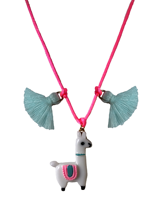 White Llama and Tassel Necklace