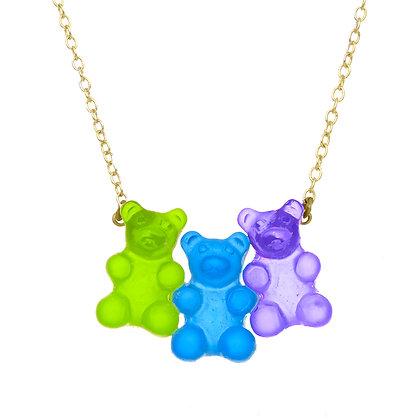 Blueberry Gummy Bear Necklace