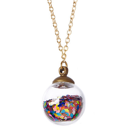 Diamond Life Crystal Ball Necklace