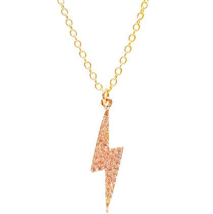 Pave Lightning Bolt Necklace