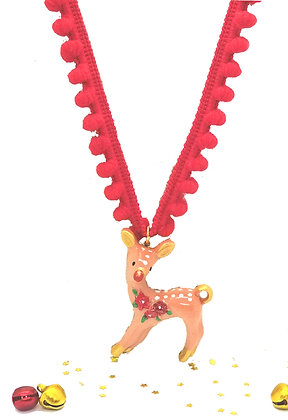 Run Run Rudolph Necklace
