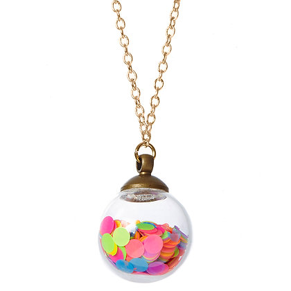 Boogie Nights Crystal Ball Necklace