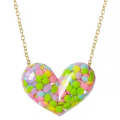 Dotty Heart Necklace - Multi