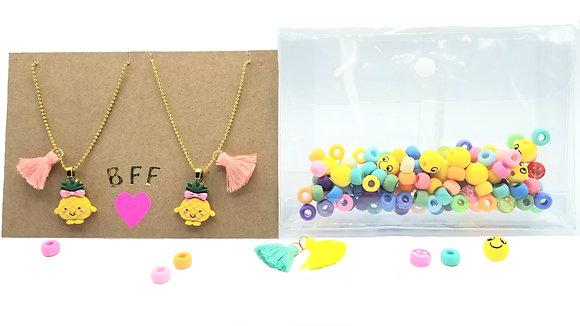 DIY Besties Necklace Kit--Pretty Pineapples