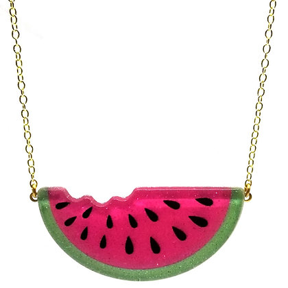Sparkly Watermelon Necklace