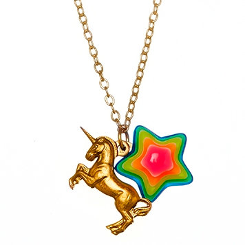 Unicorn and Star Necklace