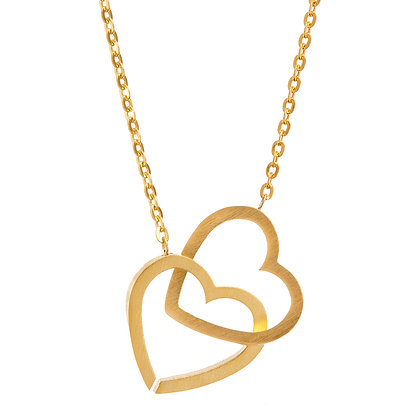 Girl Power Double Heart Necklace