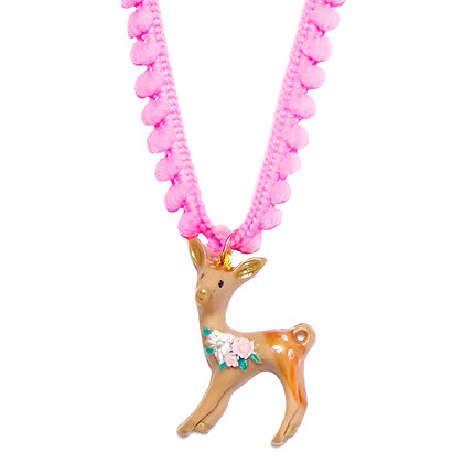 Bambi Fawn Necklace - Pink