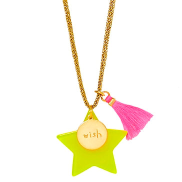 Yellow Large Star Necklace