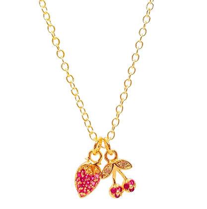 Pave Fruit Necklace