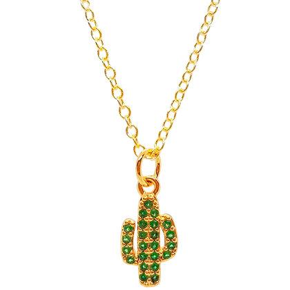 Pave Cactus Necklace