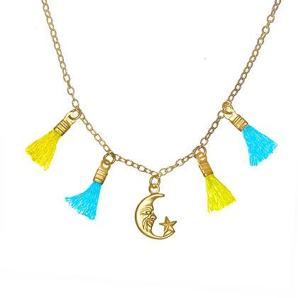 Mini Tassel Necklace (Moon)