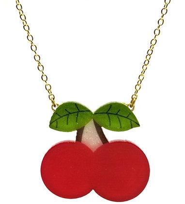 Sparkly Cherry Necklace