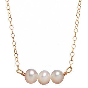 3 Pearl Necklace (cream)