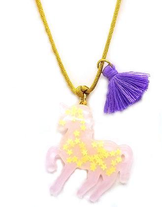 Lavender Sparkly Unicorn Pendant